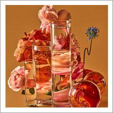 Glass Vessels Skew Florals by Suzanne Saroff
